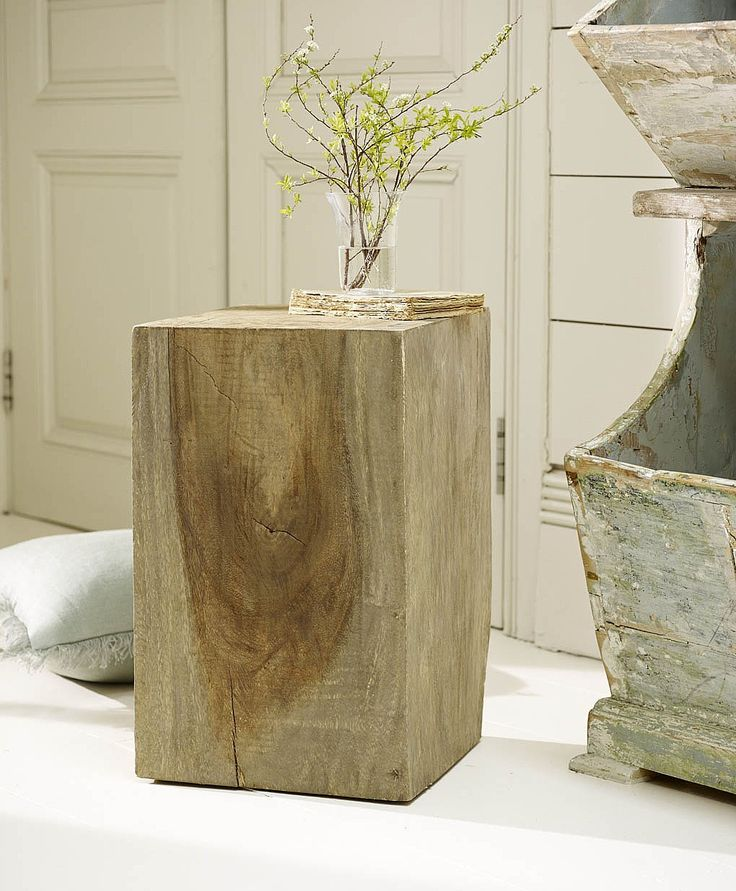 Java Wood Block Stool From Lombok Furniture