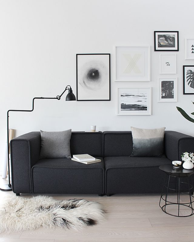 Black Leather Living Room Garden Rose And Peony: 1000+ Ideas About Black Couch Decor On Pinterest
