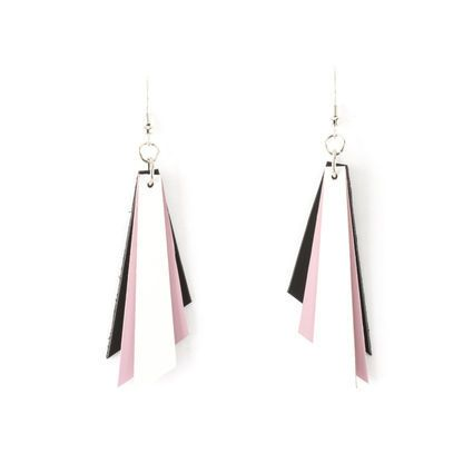 Ekoteko lyhyt korvakoru / white pink black   Weecos