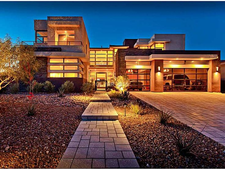 Interesting glass front garage www for Las vegas dream homes