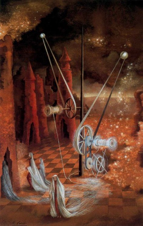 canvas-surreal: Premonition by Remedios Varo.  pankurios: Like Carrington I do like the works of Remedios Varo very very much. If u want to see more of her art right here u find a set of her works.