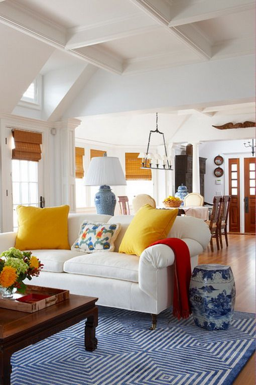 blue and yellow living room ideas | My Web Value