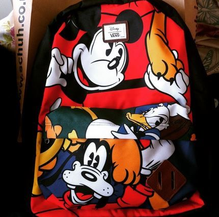The Vans Old Skool backpack is so much cooler with Mickey Mouse and friends on it! c/o @emmaretallic