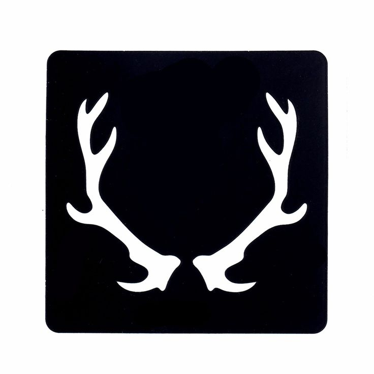 Hot 1 Sheet Temporary Airbrush Small Henna Stencil for Women Body Art Painting Reindeer Antler Pattern Tattoo Stencil Design G75