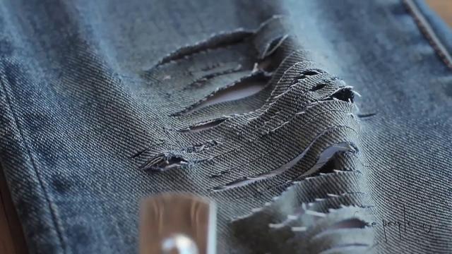 DIY distress jeans