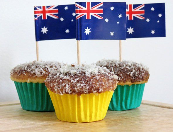 Lamington cupcake: a kid friendly version of an Australian classic. Perfect for Australia Day