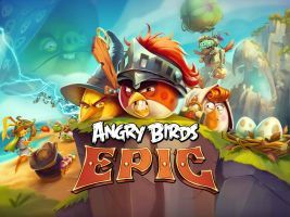 Angry Birds Epic new title screen by Alex-Bird