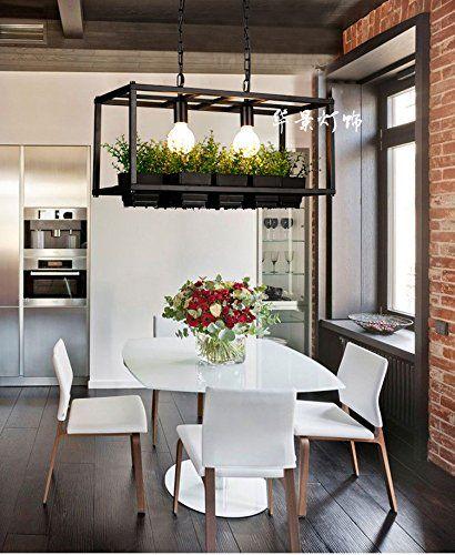 Wandun Vintage Eisen Kronleuchter Kreative Topf Pflanzen Blumen Kronleuchter Enthält Keine Lichtquellen