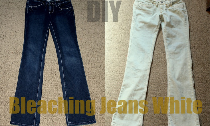 DIY Bleaching Jeans...since part of my jeans got bleached I might just have to bleach the rest of it!