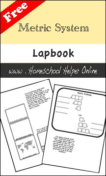 Homeschool Helper Online's Free Metric System Lapbook