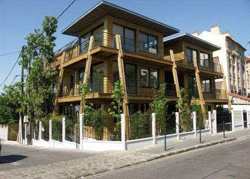 constructeur maisons bois toit et bois habitat collectif archichi pinterest. Black Bedroom Furniture Sets. Home Design Ideas