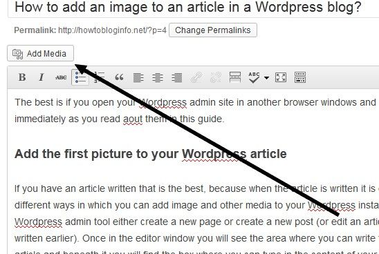 How to add a picture to a Wordpress blog...