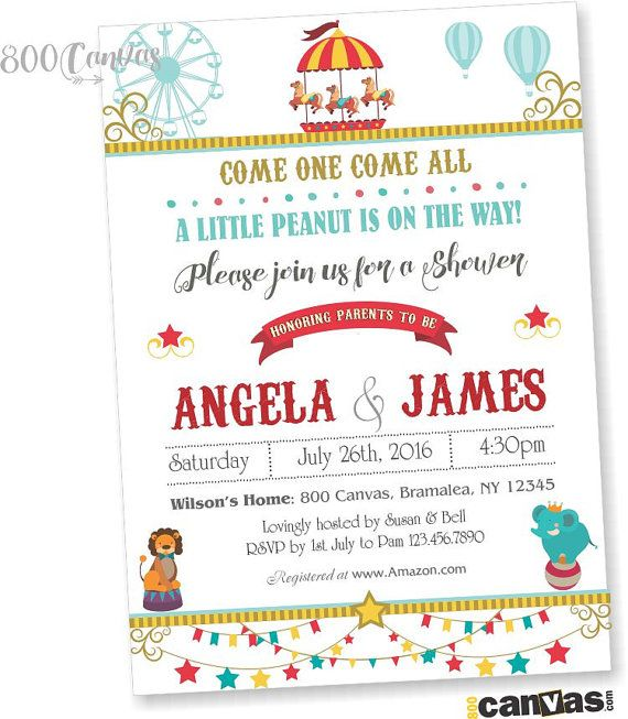 The 25 best Carnival baby showers ideas on Pinterest Circus
