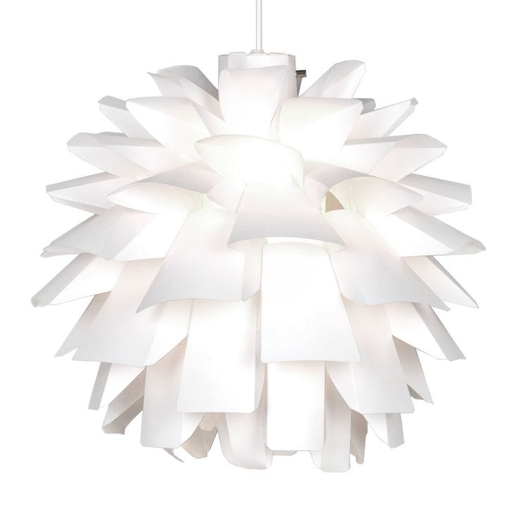 Modern White Funky Retro Artichoke Style Ceiling Pendant Light Lamp Shade  NEW
