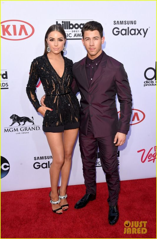 Nick Jonas and Olivia Culpa at the 2015 Billboard Music Awards in Las Vegas.