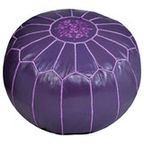 Repurposed Fabric Pouf, Purple - Contemporary - Ottomans And Cubes - by Pier 1 Imports