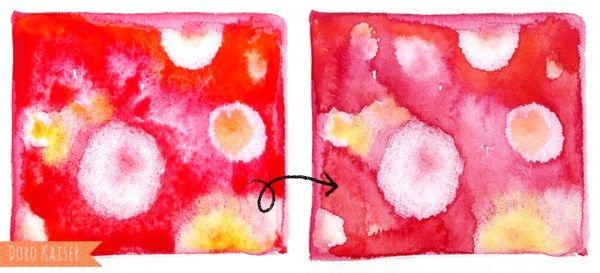6 Tolle Effekte Um Mit Aquarellfarben Flachen Zu Gestalten