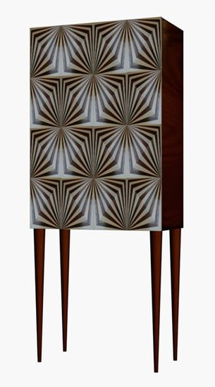 OpArt Drinks Cabinet By Violeta Galan Stand Hall Tent London 2013