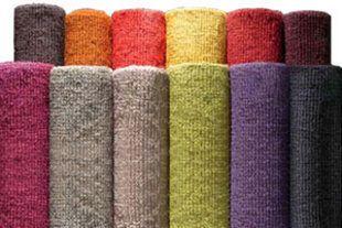 Tappeti colorati di lino