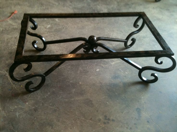 619 best images about iron work on pinterest entry gates for Glass top coffee table with wrought iron legs