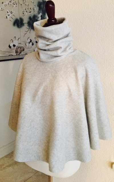 SewPetiteGal: 15-Minute Turtleneck Cape DIY Tutorial