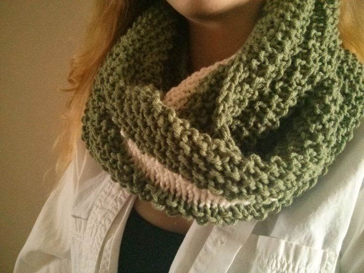 'The Ace' two tone cowl from Copacetic Knits-vintage inspired loveliness