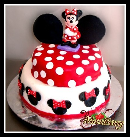 Pastel Minnie Mouse Rojo | PASTELES INFANTILES | Pinterest