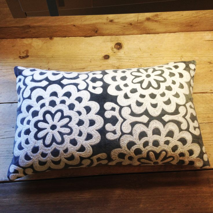 Grey Embroidery Cushions | Little Trove