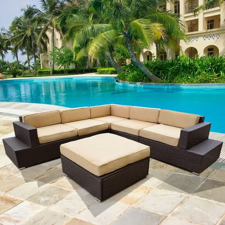 Big Sale Discount 50% Outdoor Patio Rattan Sofa Wicker Sectional Furniture Sofa Set - Outdoor Patio Furniture Sofa