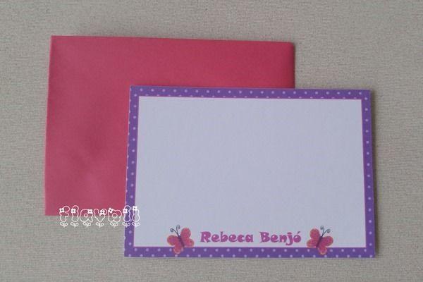 Cartão simples Borboleta  :: flavoli.net - Papelaria Personalizada :: Contato: (21) 98-836-0113 vendas@flavoli.net