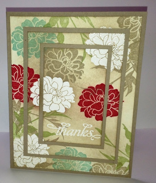 Stamp with Me: Triple Time Stamping. Another way to use lovely patterned paper :-)