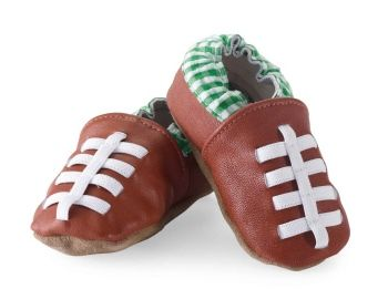 Genuine Leather Football Shoes for Baby Boy by Mud Pie | Buy Online or Visit Babytalk in Northport, Alabama (near Tuscaloosa)