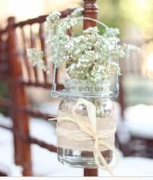 Beautiful decor for a jam jar idea!
