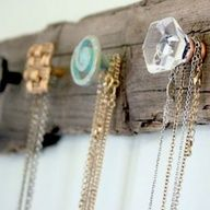 Vintage Glam Rustic Wall Rack DIY