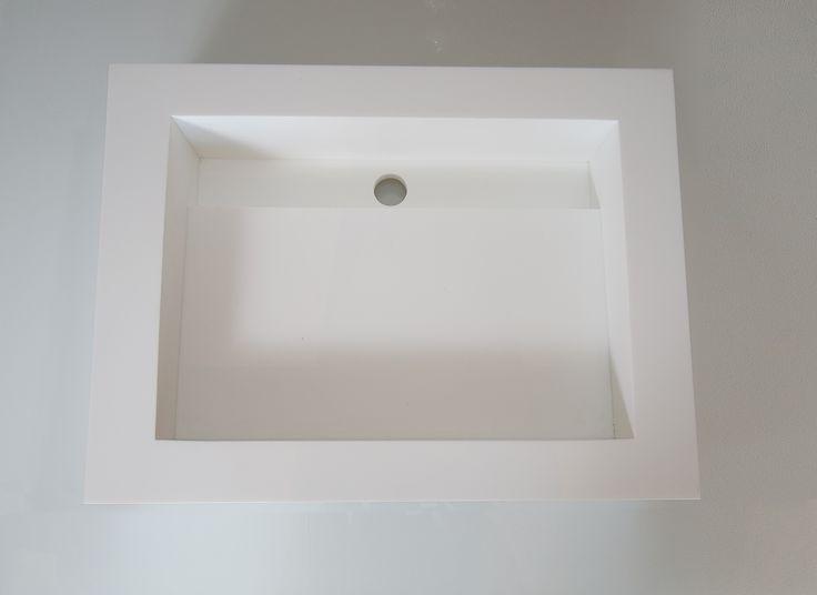 Custom Corian White Sink
