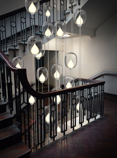 Flame light installation by LUUM.