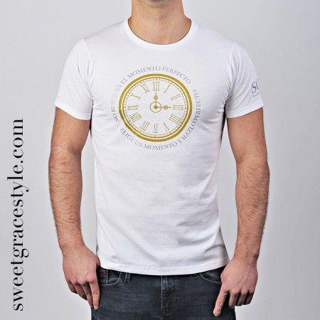 Camiseta hombre SGS 005 White http://sweetgracestyle.com/camisetas-hombre-originales/camiseta-hombre-SGS-momento-blanca  #camisetas #hombre