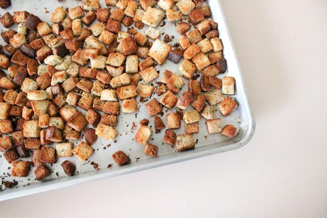 Homemade Croutons   Salads & Salad Dressings   Pinterest