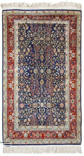 Turkish Rugs - Hereke Silk Carpet  Width81.00 cm (2,66 Feet) Lenght147.00 cm (4,82 Feet)