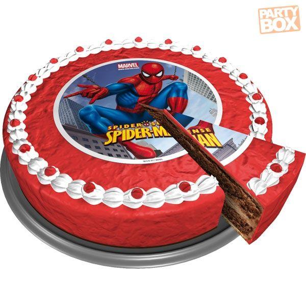 Opłatek na tort z wizerunkiem Spider-Mana