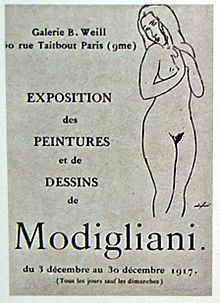 Modigliani's only one-man exhibition