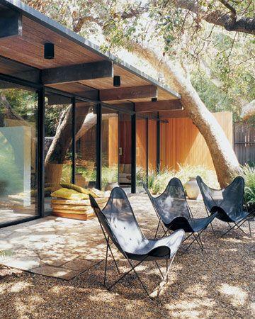 Patio Area - Santa Monica // nice butterfly chairs. Repinned by Secret Design Studio, Melbourne. www.secretdesignstudio.com