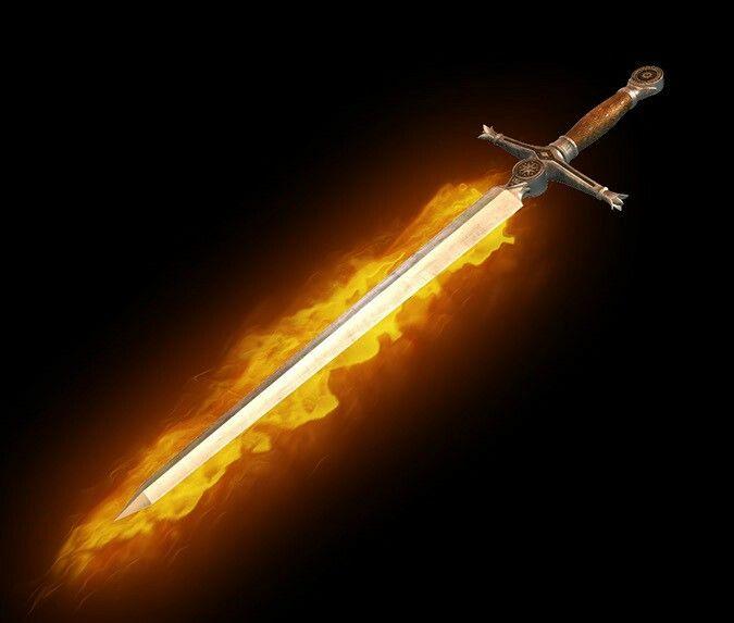 Brandklinge - legendär - 1 hand schwert gerade