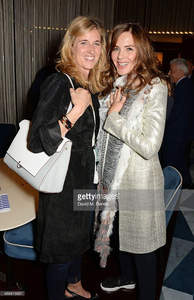Arabella Pollen and Trinny Woodall attend the launch of Alain Ducasse's Rivea restaurant at The...