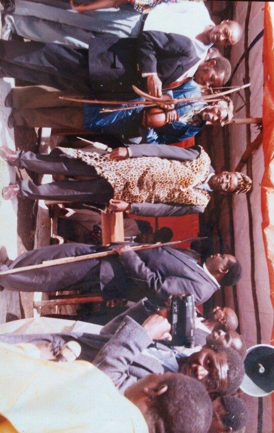 In the centre:His Royal Majesty  King(Mwami)KAHEMBE KA BUTSITSI Godefrey,Mwami Of Bukumu Kingdom in Eastern Congo