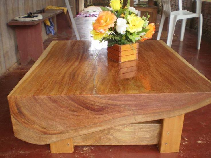 Mais de 1000 ideias sobre mesas de centro r sticas no - Mesas rusticas para bodega ...