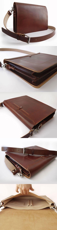 Quick overview of our handmade messenger - in brown. #basader #handmade #messengerbag Diese und weitere Taschen auf www.designertaschen-shops.de entdecken