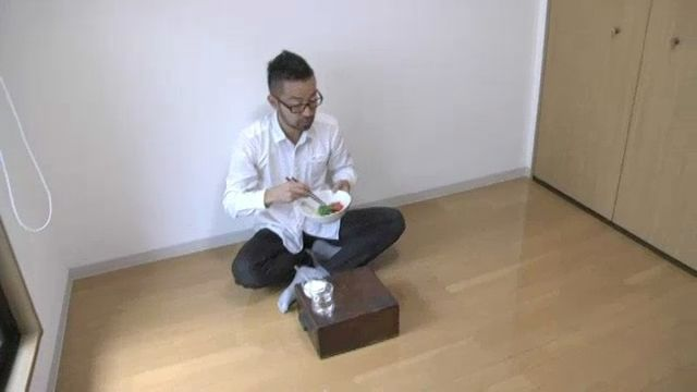 Fumio Sasaki lives in a tiny apartment — less than 300 square feet total — but it looks positively spacious given his almost complete lack of belongings.