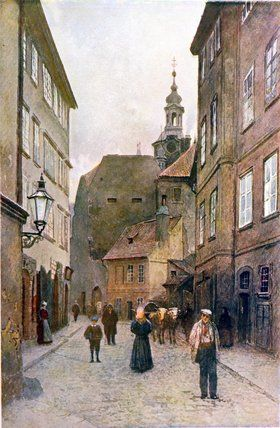 Kozna Ulicka de Vaclav Jansa (1859-1913, Czech Republic)