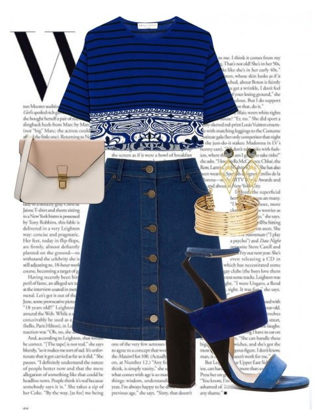 """""""Denim outfit//"""" by cami-hurtado on Polyvore featuring Oasis, Emilio Pucci, Paul Andrew, 8, H&M, Sarah Magid and denimday"""